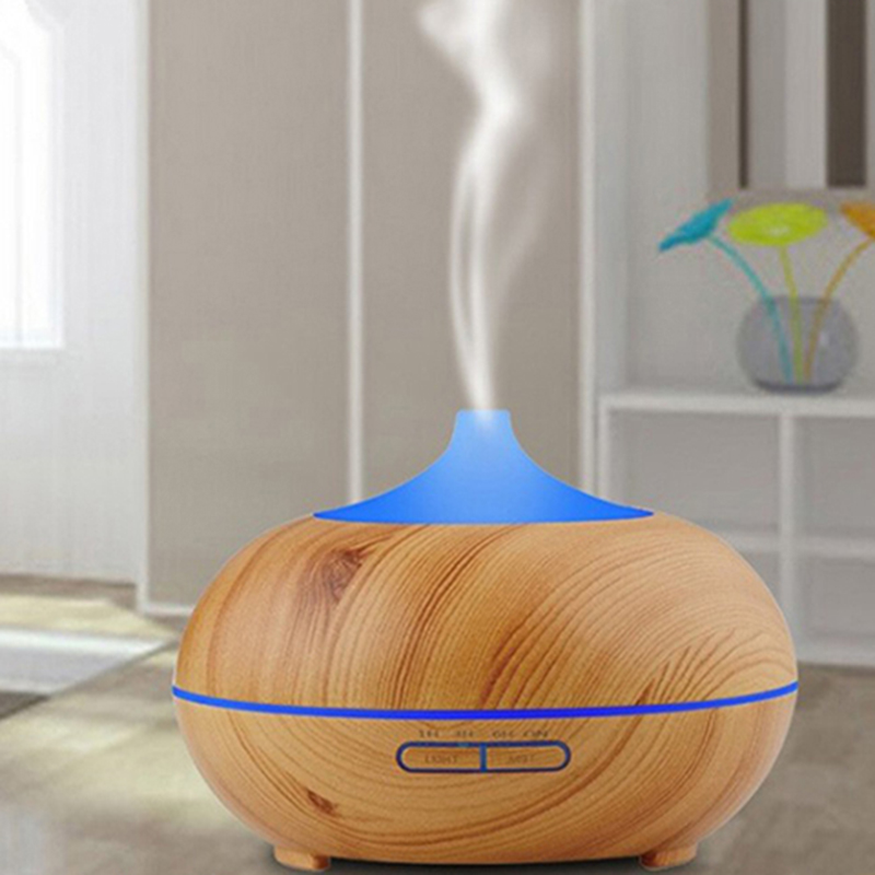 Beautiful Life Electric Fragrance Ultrasonic Essential Aroma Oil Diffuser With Wood Grain