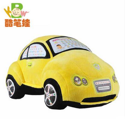 Baby high quality toy stuffed plush car toy electric car with music