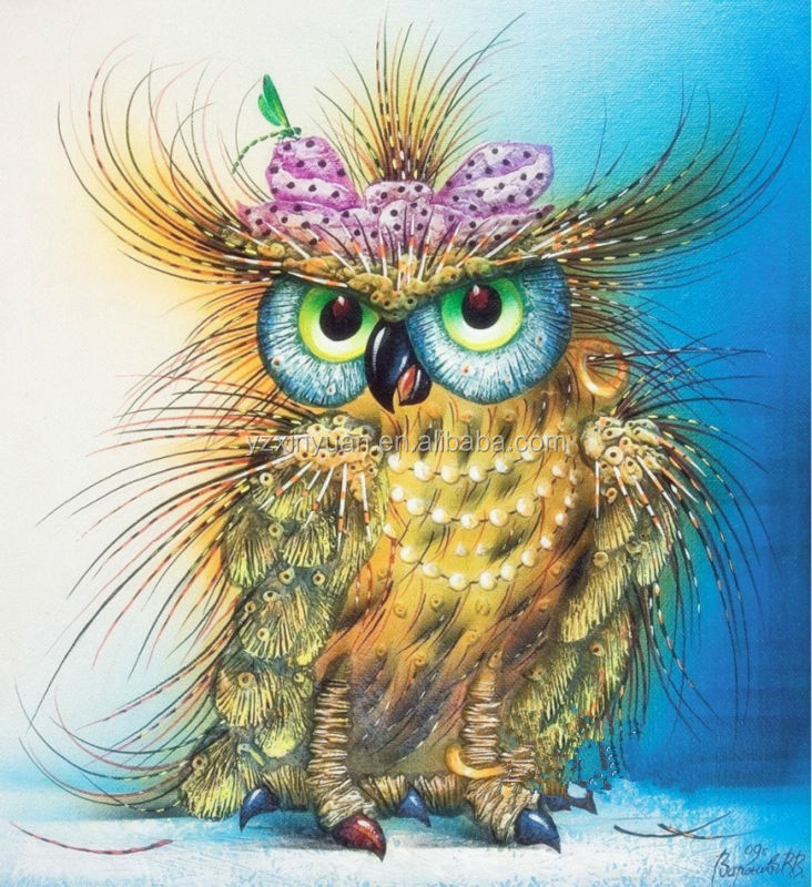 5D Diy Animal Birds Diamond Painting Beaded Embroidery Cross-Stitch Puzzle <strong>Picture</strong> Of Owl Arts Crafts
