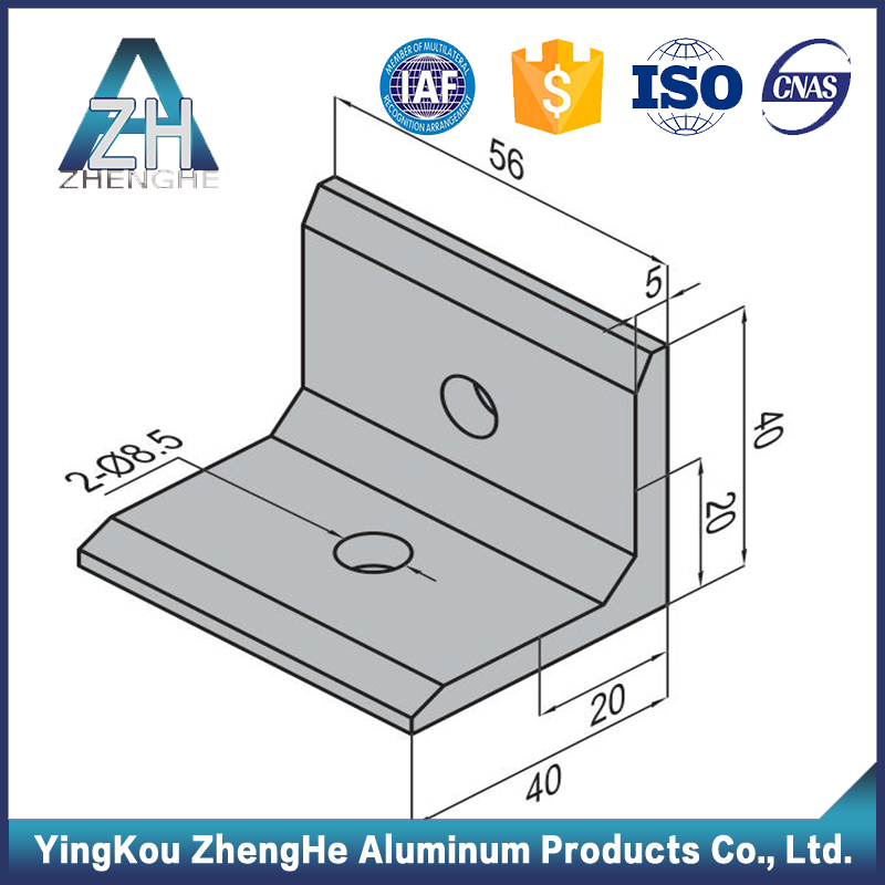 3030 t-slot aluminum profile corner joint with aluminum 6061 t6 price