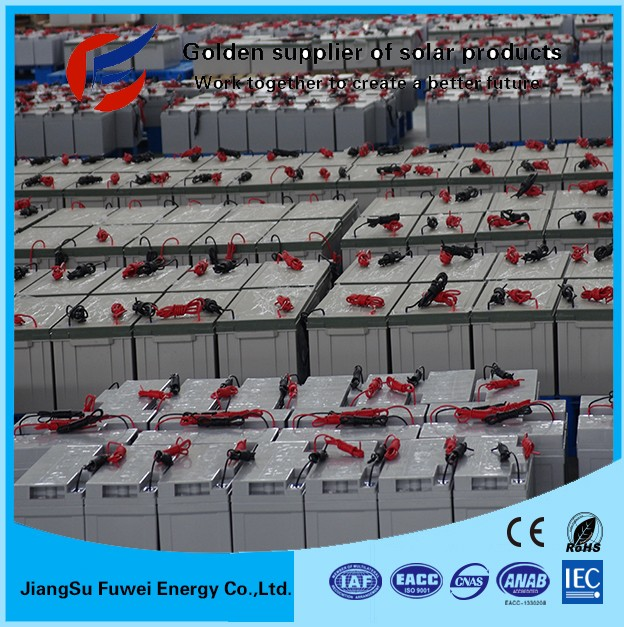 Low cost gel 24v 3000ah deep cycle battery for solar system 3kw for complete home solar system