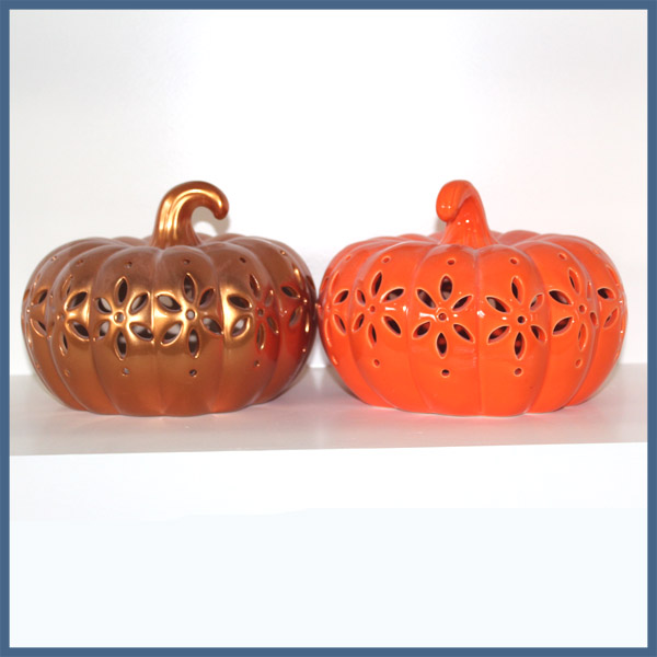 Exquisite halloween decoration ceramic material halloween pumpkin