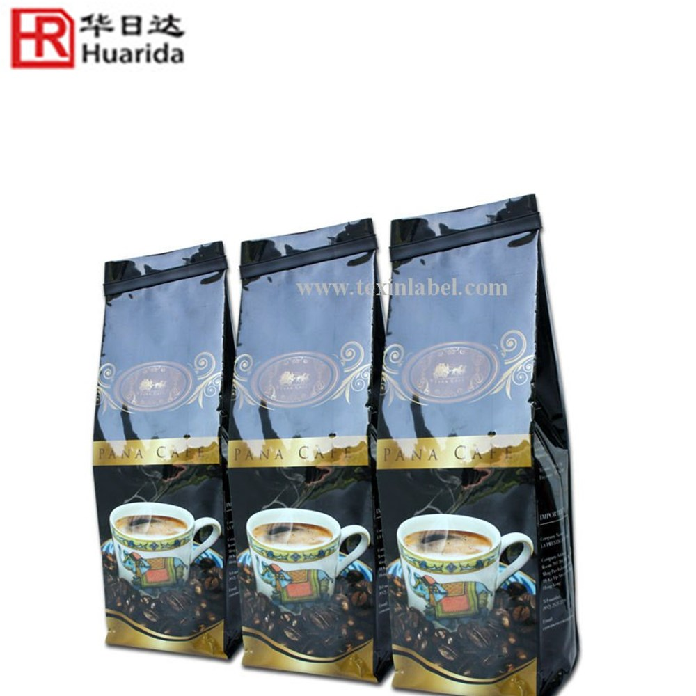 Tin Tie Aluminum Foil Raw Coffee Beans Packaging Bag With Valve