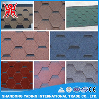Lightweight Roofing Materials Cheap Factory Direct Blue Red Asphalt Wholesale Roof Shingle