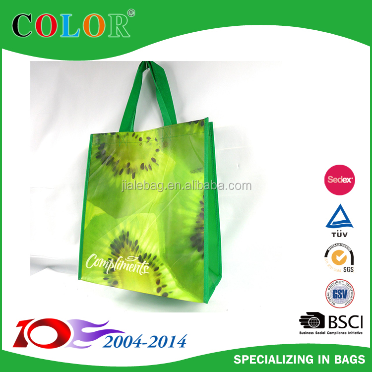 Fruit Logo Promotion Gift Item Cheap Custom PP Non Woven Bag Laminated