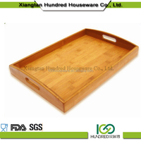 hot sale cheap bamboo food fruit wood serving tray