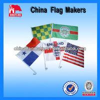 Custom Logo Design Sublimation Car Flags For Car Used