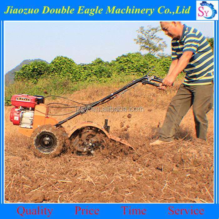 Wholesale Price farm diesel engine micro tillager machine/hand push garden tiller and cultivator