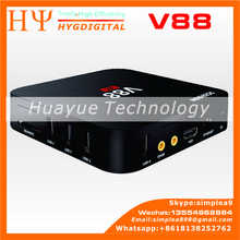 [Genuine] Wholesale V88 RK3229 4K Smart Android 5.1 1GB 8GB Hybrid Internet Digital Tv Free IPTV Air Cable Set Top Box Price V88