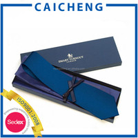 Cheap price paper gift tie box with pvc window