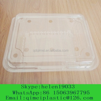 300ml plastic clamshell food container box