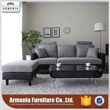 New sectional fabric cheap l shape sofa
