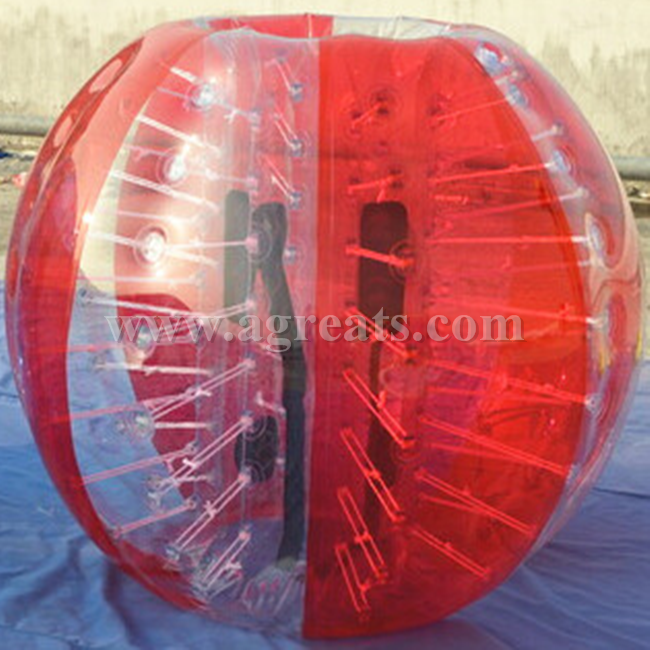 2016 HOT High quality cheap red <strong>n</strong> clear alternating human sized bubble soccer bubble ball for sale GB7145