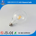 Squirrel Cage Globe G125 125mm LED filament lamp bulb Edison Glass Bulbs light Dimmable