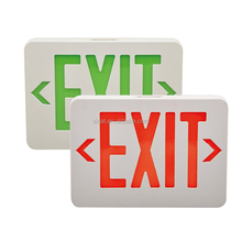 UL listed green /red letters rechargeable emergency exit sign light