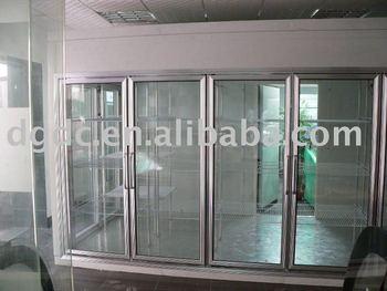 Supermarket 4 glass door walk in cold room buy glass for Door 4 montpellier walk