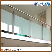 Tempered Glass Deck Top , Tempered Glass Railing Fence Toughened Glass Railing Fence