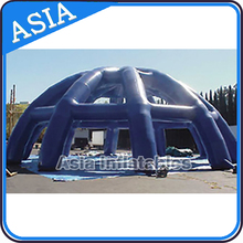 Blue white big inflatable spider dome tent, inflatable wedding tent, truck tent low price to sale