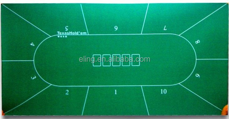 Poker Table Fabric ( casino equipment with flocking nylon and rubber materia)laminated table mats
