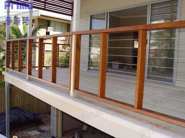 Hervorragend Modern Design Stainless Steel Wire Railing /wooden Handrail  QB49
