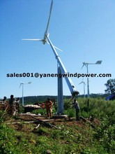 5kw pitch controlled wind turbine grid tie working system + tilt up tower 12m