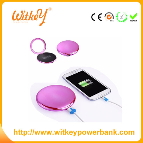 Smart portable power bank, new products of Japanese mirror power battery,colorful power bank charger
