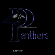 chinese factory wholesales Panthers rhinestone transfer motif for garment