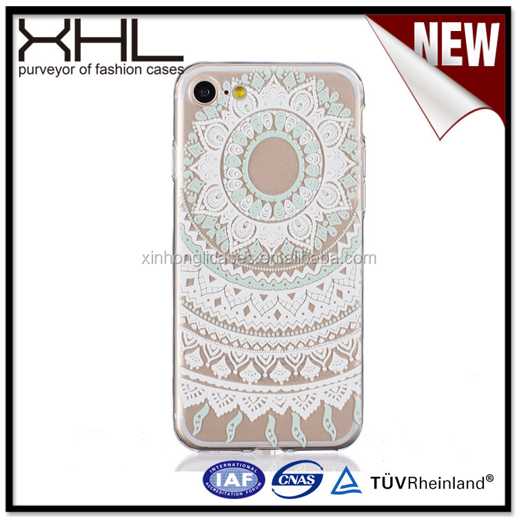 For IPhone7 white transparent relief TPU engraving cell phone case