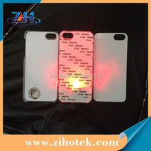 Hard PC 2D Sublimation LED Case for iphone4/4s,blank sublimation LED case for iphone 4/4s