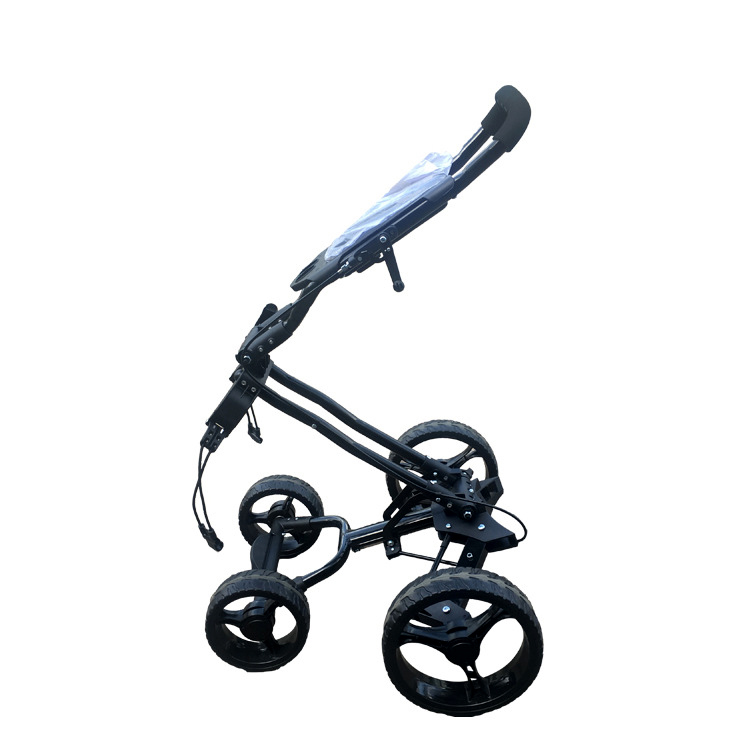 Foldable Golf trolley Aluminum alloy trolley with four wheels