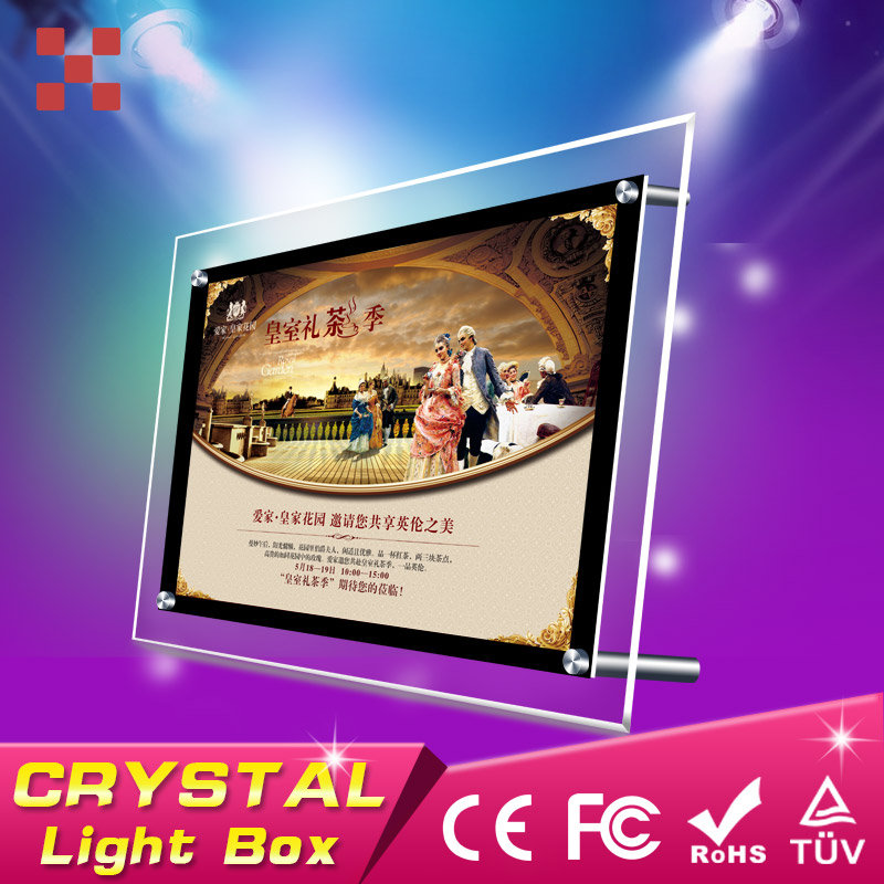 <strong>A0</strong> acrylic crystal poster <strong>frame</strong>,advertising <strong>led</strong> crystal light box,real estate window display panel