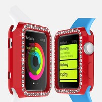 2015 Factory Price New Products Red Watch Case for Apple Watch Case, diamond Case For Apple Watch , tpu Case For Apple Watch