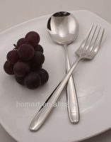 hotel use stainless steel serving spoon and fork