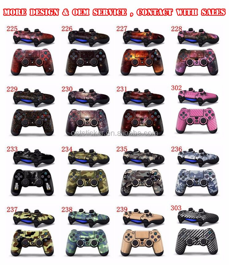 Mixed Designs Order Custom Decal Skin Sticker For PS4 For Playstation 4 Vinyl Stickers