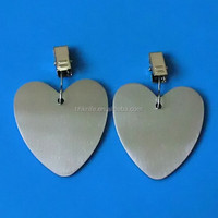 stainless steel heart shape tablecloth clip weight