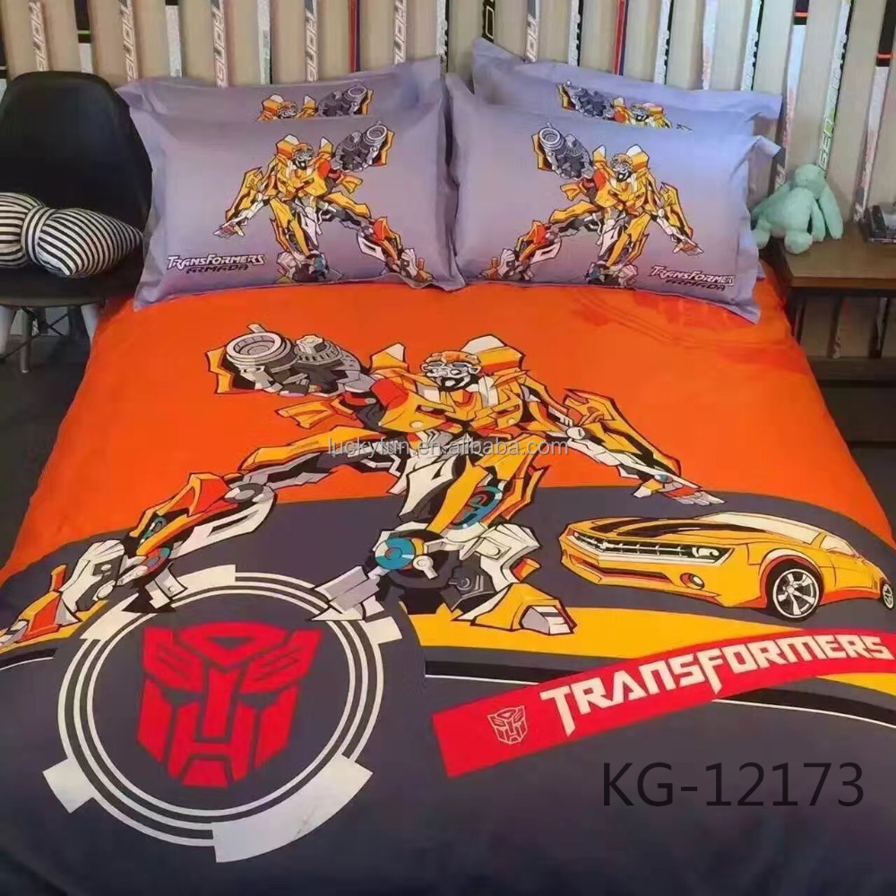 100% cotton printed christmas bedding sets autobots transformers
