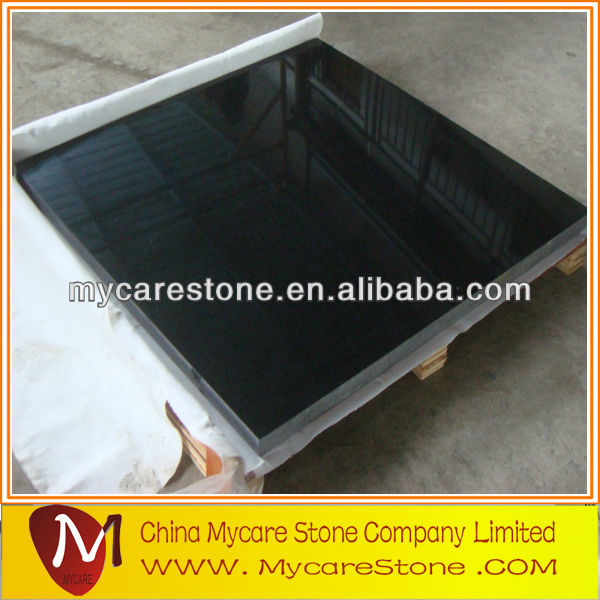 flamed chinese G684 black pearl granite