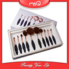 MSQ 10pcs Hot Sale Rose Gold Tooth Oval Makeup Brush Set