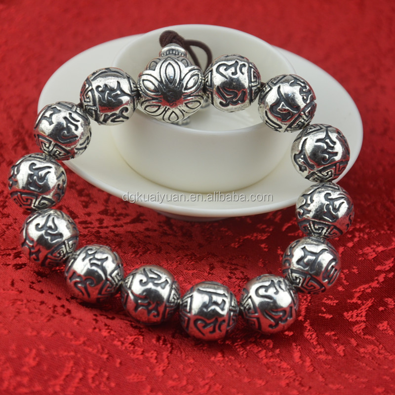 Wholesale Buddha beads sterling silver 925 bracelet men