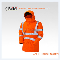 Fluorescent Red Waterproof Wholesale Safety Reflective Latest Design Jacket For Men