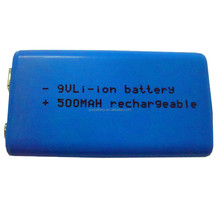 9V 500mAh rechargeable li ion lithium lipo polymer battery with charger for multimeter