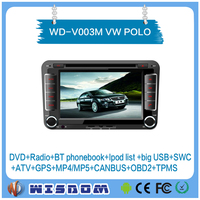 2016 factory price car audio system FOR VW POLO multimedia system android 2 din 7 inch wifi bluetooth rear camera ce
