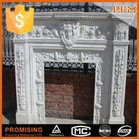 hot sale natural well polished natural stone marble fireplace pictures