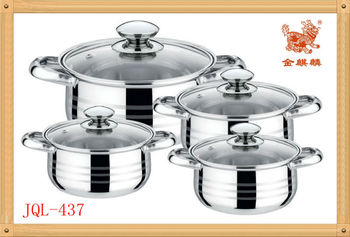 stainless steel pot set(JQL-437)