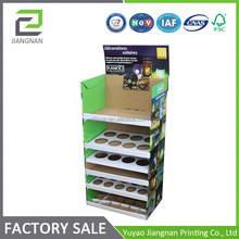 6 Tiers Pop Up Cardboard Floor product displays stands