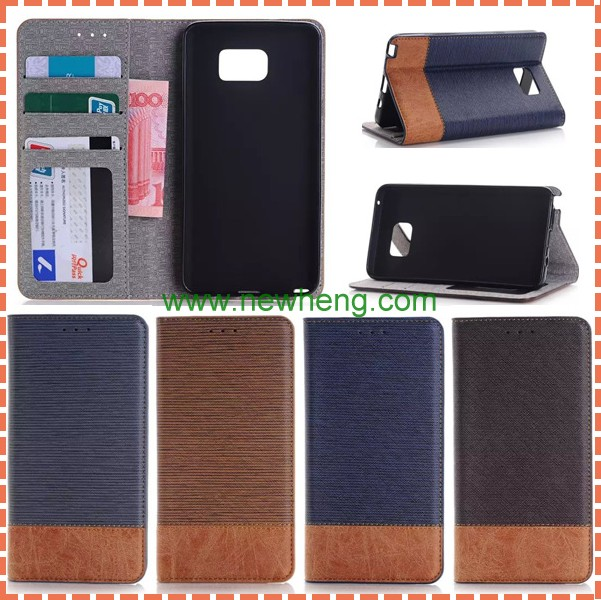Top Quality Cross Pattern Leather Case For Samsung Galaxy Note 5 Flip Wallet Stand With Card Holder Mobile Phone Bags