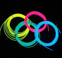 Wholesale cold led el wires for party decoration show suit Christmas decoration