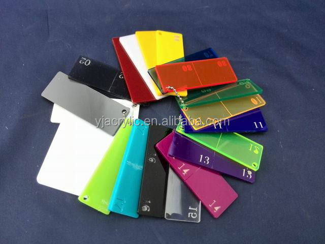 Custom high quality clear acrylic strips, hard colored plastic strips