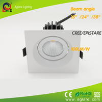 2015 new product square 80mm 9w led downlight