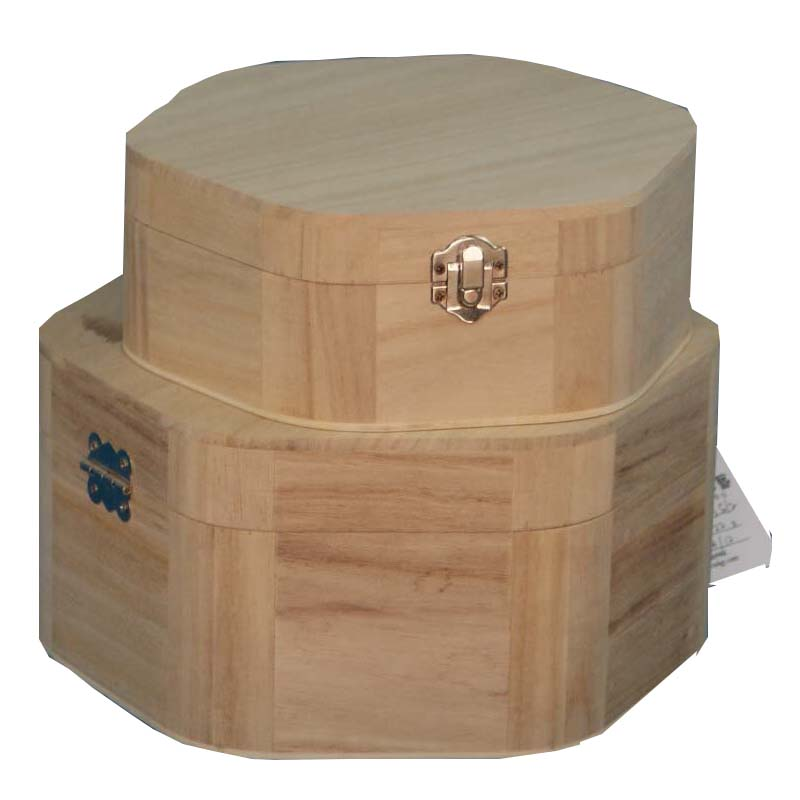 Wholesale eco friendly unfinished wooden keepsake box